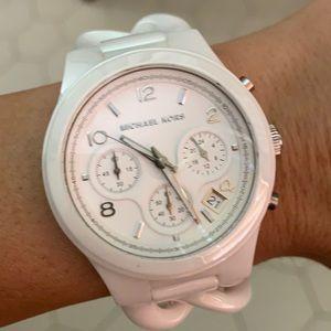 Michael Kors White Ceramic Watch Bracelet